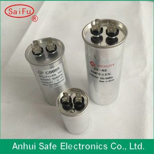 Cylinder Aluminum Case Cbb65A AC Motor Start Capacitor pictures & photos