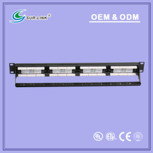 UTP CAT6A 110 IDC 24 Ports Patch Panel pictures & photos