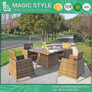 Stackable Dining Chair Wicker Chair Patio Rattan Chair Dining Table Outdoor Dining Set (Magic Style) pictures & photos