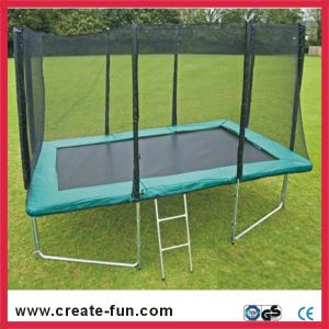 Createfun Square Trampoline with Enclosure 10X7ft