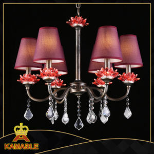 Modern Red Lampshade Room Chandelier (SAC-01-L6) pictures & photos