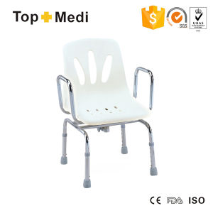 Topmedi Bathroom Accessories Portable Adjustable Height Steel Shower Chair pictures & photos