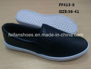 Women Injection Leather Shoes Comfort Shoes Loafer Shoes Casual Shoes (FF413-8) pictures & photos