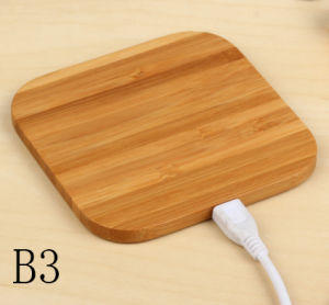 Wireless Charger with Bamboo Case for Qi Mobile Phone pictures & photos