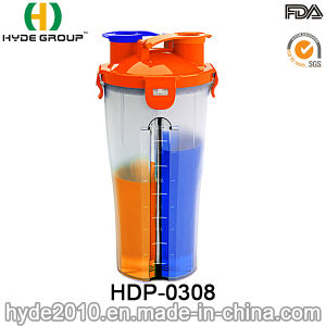 700ml High Quality BPA Free Shaker Bottle, Plastic Protein Shaker Bottle (HDP-0308) pictures & photos