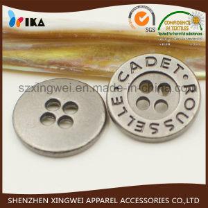 Custom Logo 4 Holes Zinc Alloy Metal Shirt Button pictures & photos