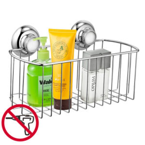 Suction Stainless Steel Shower Basket