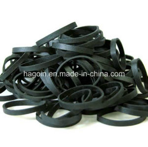 Elastic Black Color Rubber Band pictures & photos