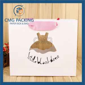 White Punch Hole Paper Bag Wtih Custom Printing (DM-GPBB-118) pictures & photos