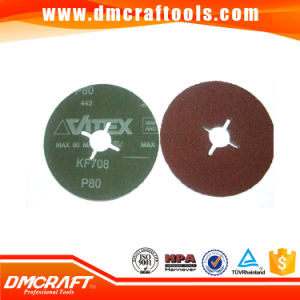 Cross Hole Aluminum Oxide/Silicon Carbide Fiber Disc pictures & photos
