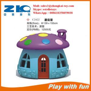 The Mushroom Type Plastic Hut for Children Playground Equipment pictures & photos
