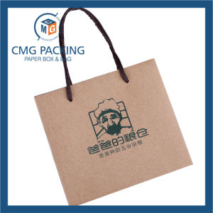 Kraft Brown Paper Bag with Green Printing (CMG-MAY-052) pictures & photos