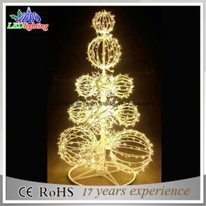 New Large 3D Ball Outdoor Metal Lighted Christmas Trees pictures & photos