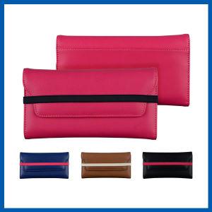 Leather Envelope Case Purse with Wrist Strap Shoulder Handbag pictures & photos