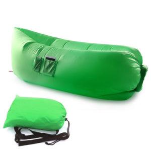 Inflatable Lazy Chair Sofa Portable Beach Nylon Fabric Sleep Bed 3 Season Hangout Travelling Lazy Sleeping Air Bag