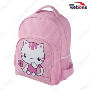 Pink Cute Cartoon Cat School Backpack Bag for Teen Girls pictures & photos