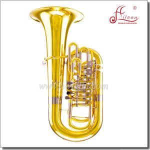 3/4 F Key Yellow Brass Piston Lacquer Finish Jinbao F Tuba (TU600G) pictures & photos