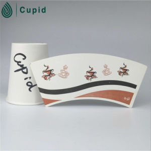 Hztl Cheap 1 PE/2 PE Coated Paper Cup Fan with Flexo Printing pictures & photos