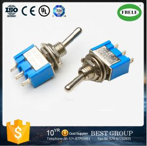 on-off-on Miniature Toggle Switch PC Terminal 6A 125VAC Toggle Switch pictures & photos