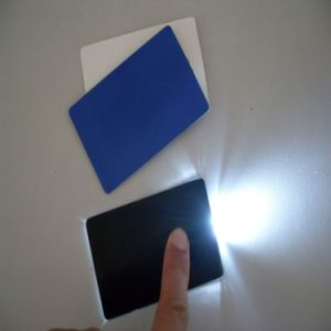Credit Card Mini Thin Emergency Pocket LED Light with Any Logo Commercial Flashlight pictures & photos