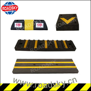 Highly Visible Traffic Safety Rubber Parking Curb for Garage pictures & photos