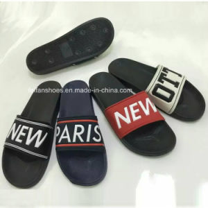 New Style Print Letter Men′s EVA Beach Slipper Sandal (HK-15010-1) pictures & photos