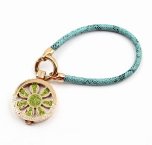 Fashion Leather Bracelet with Locket Charm pictures & photos
