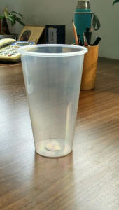 Disposable Plastic Cold Drink Cups of 600ml, 20oz