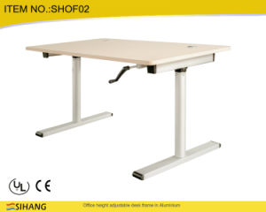 electric height adjustable office standing ceul certified manual lift table china ce approved office furniture