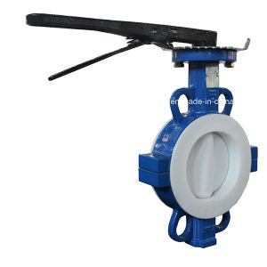 Split Body PTFE Lining Wafer Butterfly Valve with CE&ISO pictures & photos