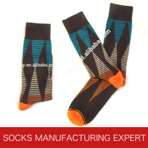 Men′s Funny Knitted Cotton Socks pictures & photos