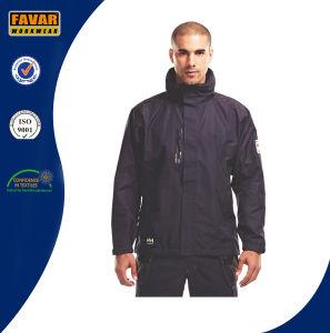 Men Navy Waterproof Rain Jacket pictures & photos