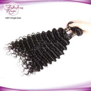 Cheap Unprocessed Human Hair Deep Wave Virgin Brazilian Hair Bundles pictures & photos
