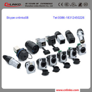 Dust and Water Resistand Rugged Diecast Metal Shell RJ45 Connector pictures & photos