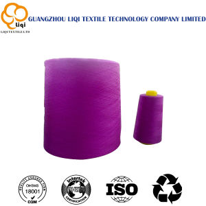 Dyed 100% Polyester Sewing Yarn for Clothes and Bags pictures & photos