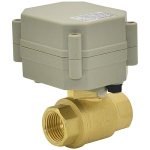 OEM 2 Way Motorized Brass Water Ball Valve (T15-B2-A) pictures & photos