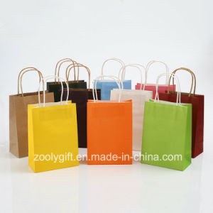 Wholesale Cheap Kraft Paper Gift Carrier Bags with Twisted Handle pictures & photos