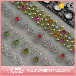 Plastic Base Crystal Ribbon Rhinestone Banding Trimming pictures & photos