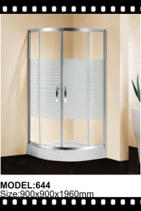 Free Standing Pattern Glass Shower Enclosure pictures & photos