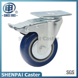 "5"" Blue Polythene Swivel Locking Caster Wheel pictures & photos"