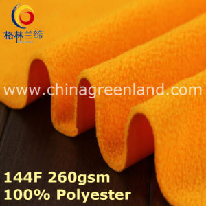 Polyester Knitted Polar Fleece Brush Fabric for Coat-Proof Garment (GLLML393) pictures & photos