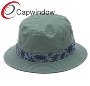 Simple Green Cotton Leisure Unisex Fisherman Bucket Hat pictures & photos