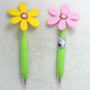 Promotional Cute Flower Plastic Ball Pen for Students pictures & photos