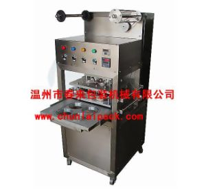 2015 New Efficiency Vertical Type Pneumatic Tray Sealing Machine pictures & photos