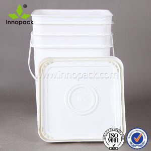 Virgin PP Rectangular Plastic Bucket with Handle and Lid 20 Liter Drums for Water pictures & photos