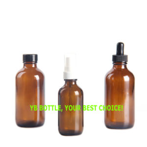 2oz 60ml Amber Boston Round Glass Bottle with Child Proof Glass Dropper pictures & photos