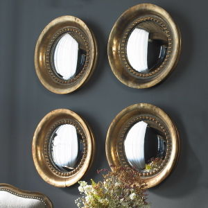 Hot Sales Mini Round Resin Framed Convex Decorative Mirrors pictures & photos