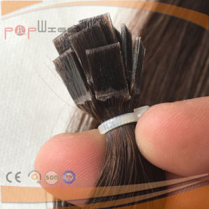 Human Falt Tip Nail Dyed Remy Hair Warm Brown Fusion Hair Extension pictures & photos