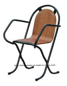 Industrial Metal Dining Restaurant Coffee Wooden Armchair Stak-a-by Chairs pictures & photos