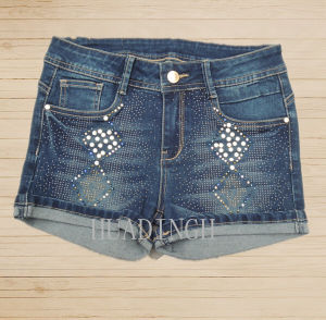 Hot Sell Fashion Summer Woman′s Ladies Blue Denim Pants Denim Jeans (Hdlj0057) pictures & photos